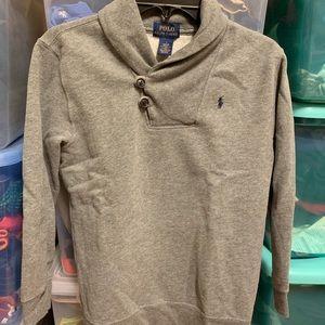 RARE Ralph Lauren Polo Shawl Neck Sweatshirt Boy 7